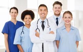 profissionais medicos e enfermeiros